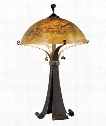 "Santa Fe 17"" 2 Light Table Lamp in Chocolate Carmel"