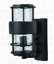"""Saturn 6"""" 1 Light Outdoor Outdoor Wall Light in Satin Black"""