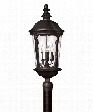 "Windsor 13"" 4 Light Outdoor Outdoor Post Lamp in Black"