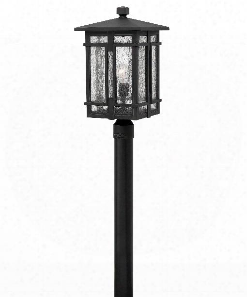 """Tucker 11"""" 1 Light Outdoor Outdoor Post Lamp In Museum Black"""