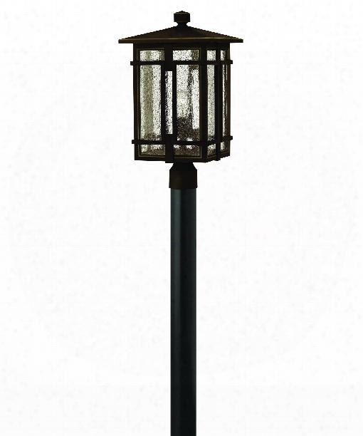 """Tucker 11"""" 1 Light Outdoor Outdoor Post Lamp In Oil Rubbed Bronze"""