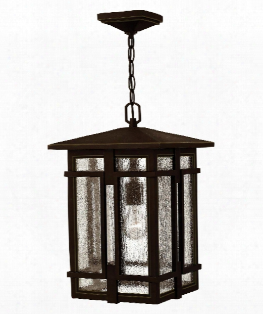 "Tucker 11"" Led 1 Light Outdoor Hanging Lantern In Oil Rubbed Bronze"