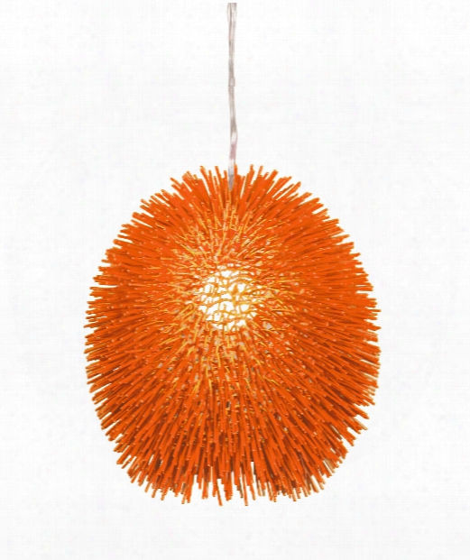 "Urchin 16"" 1 Buoyant Large Appendix In Electric Pumpkin"