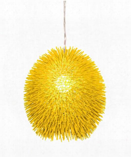 "Urchin 16"" 1 Light Large Pendant In Un-mellow Yellow"