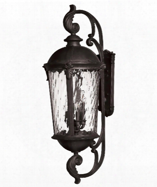 "Windsor 14"" 6 Light Outdoor Outdoor Wall Light In Black"