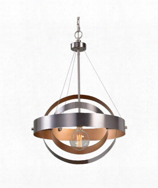 "Anello 22"" 1 Light Large Pendant In Brushed Nickel"