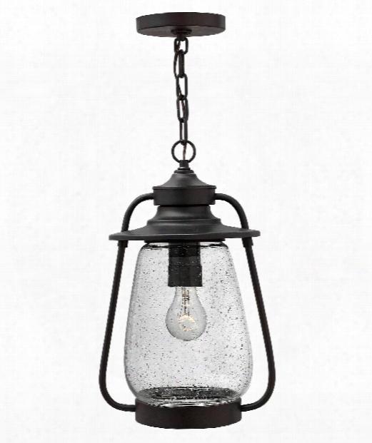 "Calistoga 10"" 1 Light Outdoor Hanging Lantern In Spanish Bronze"