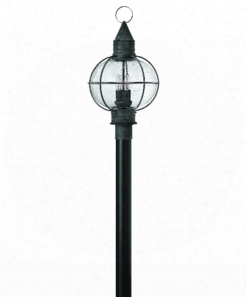 """Cape Cod 14"""" 4 Light Outdoor Outdoor Post Lamp In Aged Zinc"""