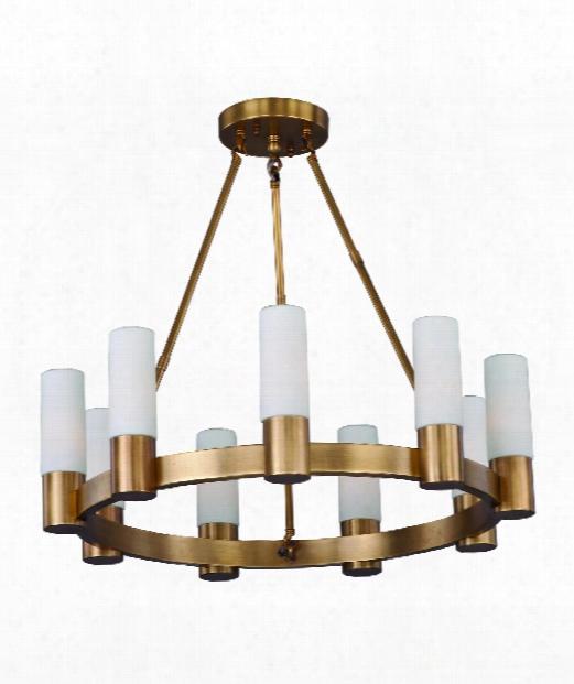 "Contessa 27"" 9 Light Chandelier In Natural Aged Brass"