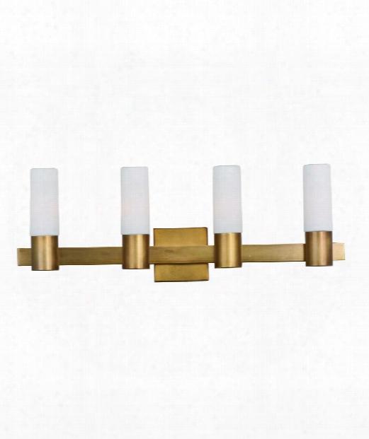 """Contessa 29"""" 4 Light Bath Vanity Light In Natural Having Lived Brass"""