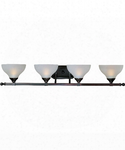"Contour 39"" 4 Light Bath Vanity Light In Oil Rubbed Bronze"