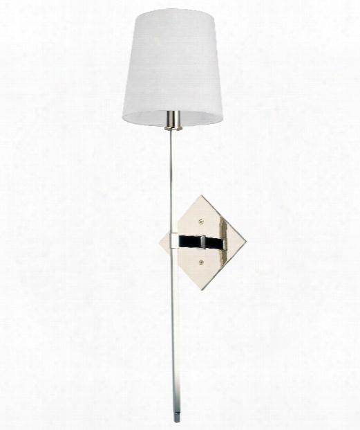 """Cortland 7"""" 1 Light Wall Sconce In Polished Nickel"""