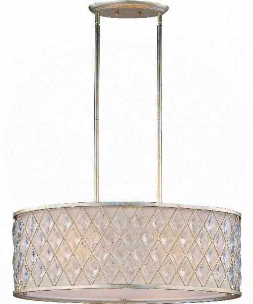 "Diamond 15"" 4 Light Large Pendant In Golden Silver"