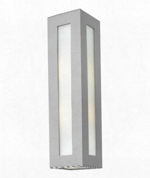 "Dorian 6"" 2 Light Outdoor Outdoor Wall Light In Titanium"
