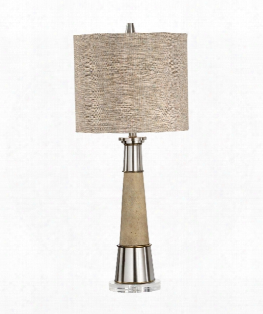 Firehorn 1 Light Table Lamp In Brushed Nickel