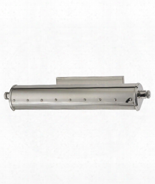 """Gaines 18"""" 2 Light Picture Light In Polished Nickel"""