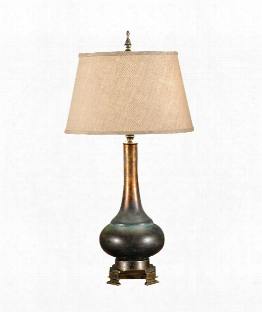 Genie Bottle 1 Light Table Lamp In Weathered Bronze