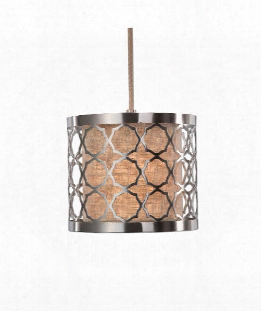 "Harwich 9"" 1 Light Mini Pendant In Brushed Nickel"