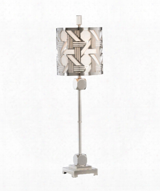 Hutton Slim 1 Light Accent Lamp In Burnished Nickel
