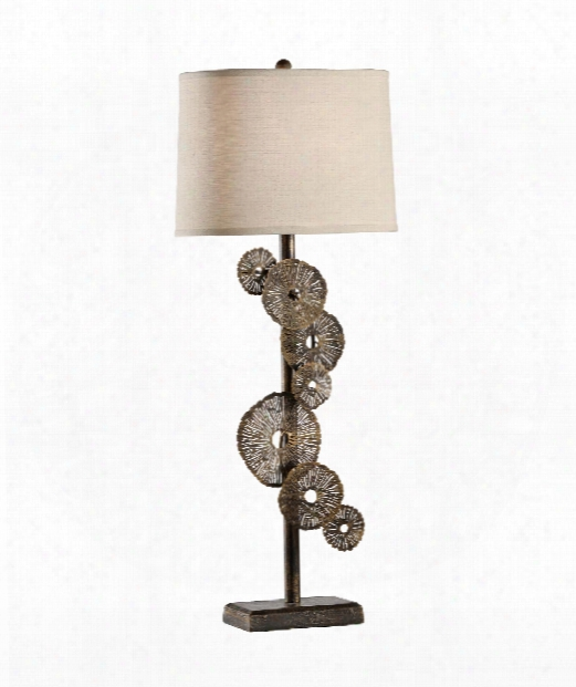 Luna 1 Light Table Lamp In Antiqued Brass