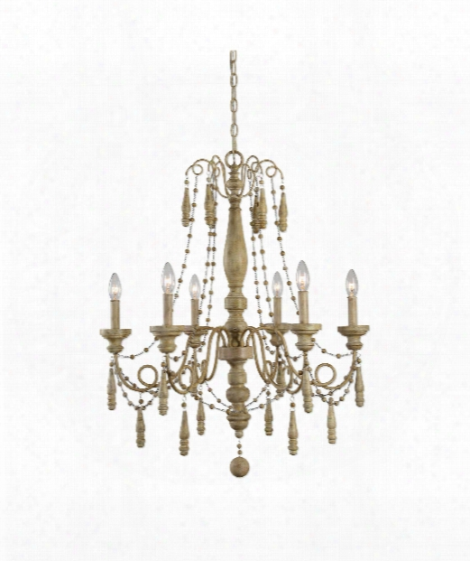 "Marinot 28"" 6 Light Chandelier In Sea Salt"
