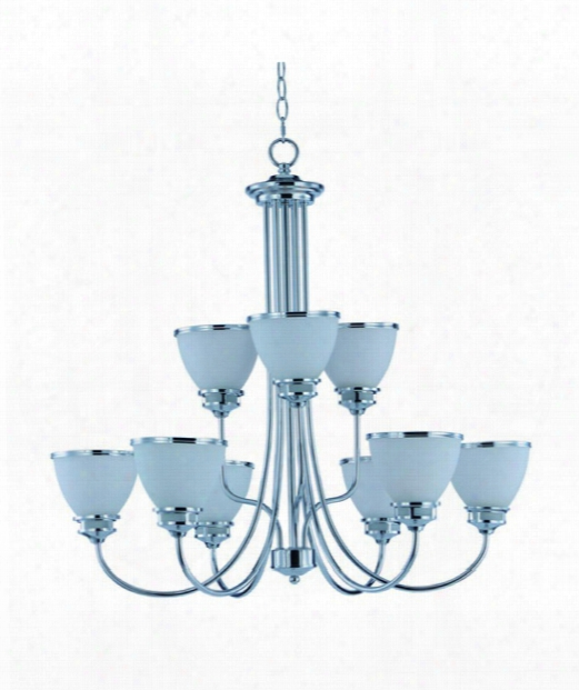 "Novus 30"" 9 Light Chandelier In Polished Chrome"