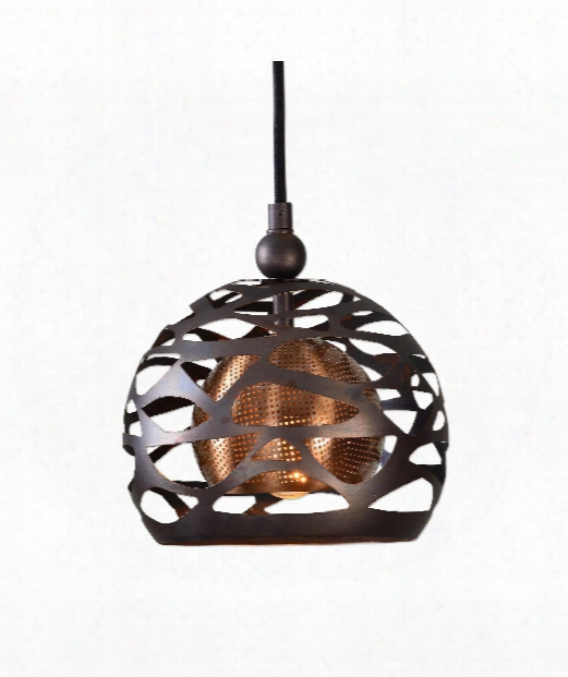 Parth 1 Light Mini Pendant In Chapman And Coffee Bronze