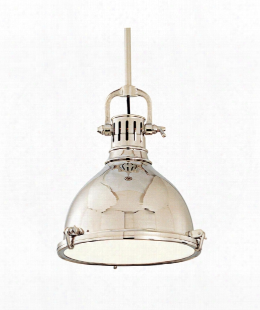 "Pelham 14"" 1 Light Mini Pendant In Polished Nickel"