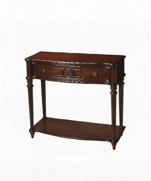"Plantation Cherry 37"" Console Index In Plantation Cherry"