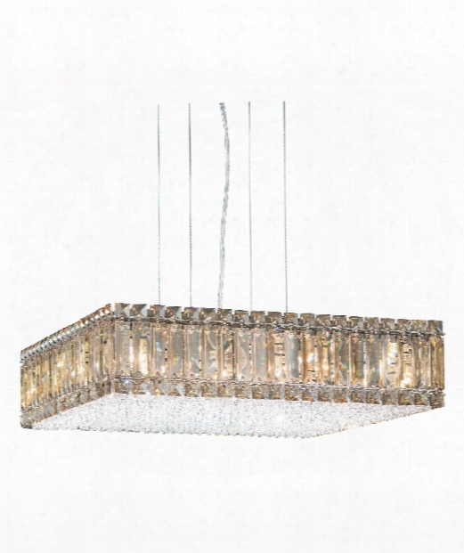 "Quantum 20"" 16 Light Large Pendant In Stainless Steel"