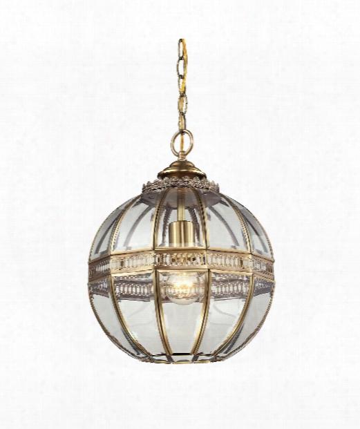 "Randolph 12"" 1 Light Large Pendant In Brushed Brass"