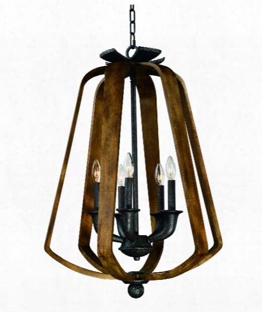"Road House 22"" 5 Light Large Pendant In Barn Wood-iron Ore"
