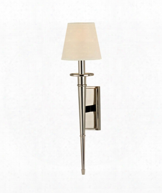 "Stanford 6"" 1 Light Wall Scnoce In Polished Nickel"