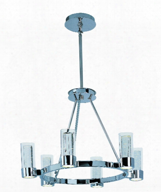 "Sync 27"" Led 12 Light Chandelier In Polished Chrome"