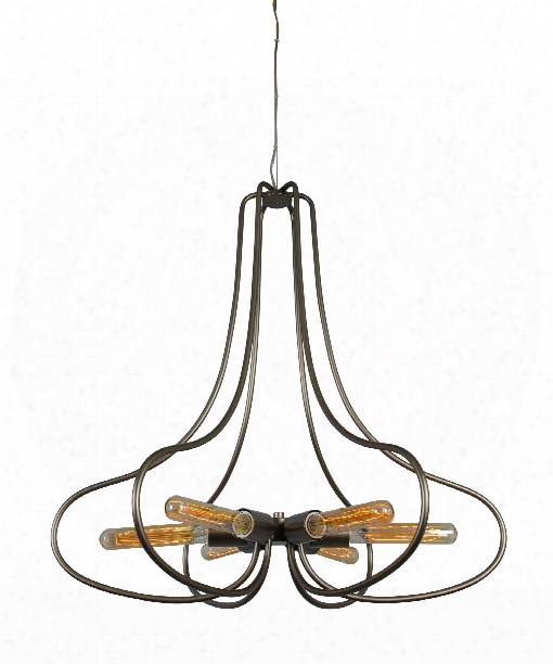 "The Whole Package 26"" 6 Light Chandelier In New Bronze"