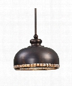 Brusett 1 Light Mini Pendant in Chapman And Gold Leaf