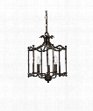 "Candela 14"" 3 Light Foyer Pendant in Distressed Rust Iron"