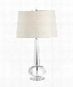 Creative Crystal 1 Light Table Lamp in Solid Lead Crystal