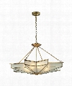 "Decostar 18"" 8 Light Large Pendant in Brushed Brass"