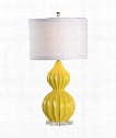 Lauren 1 Light Table Lamp in Citrus With Crystal