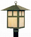 "Montclair Mission 10"" 1 Light Outdoor Post Lamp in Verde Patina"