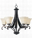 "Oak Harbor 28"" 5 Light Chandelier in Rustic Burnished"