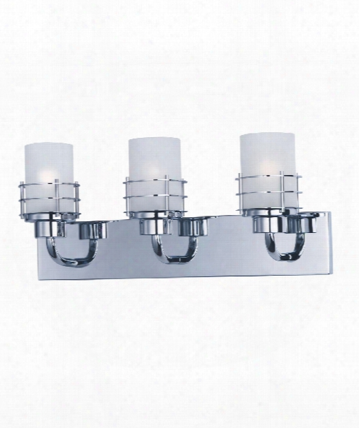 "Tier 23"" 3 Light Bath Vanity Light In Polished Chrome"