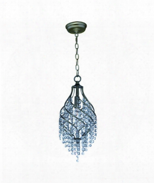 "Twirl 8"" 1 Light Mini Pendant In Golden Silver"