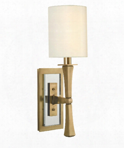 "York 5""1  Light Wall Sconce In Aged Brass"