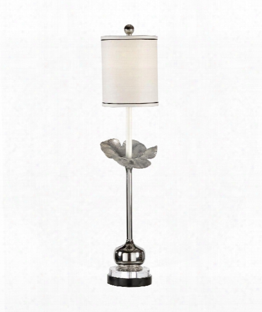 Zoey 1 Light Accen Tlamp In Polished Nickel With Marble