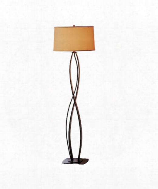 Almost Infinity 1 Light Floor Lamp In Vintage Platinum