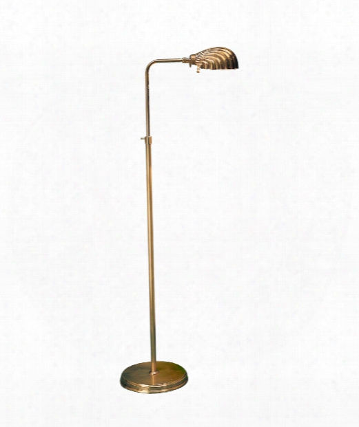 Apothecary 1 Light Reading Lamp In Antiqued Solid Brass