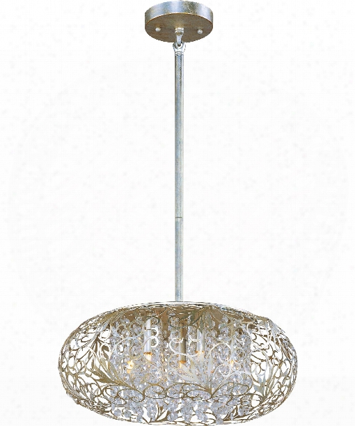 "Arabesque 18"" 7 Light Large Pendant In Golden Silver"