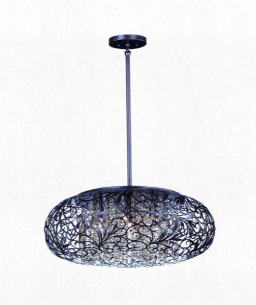 """Arabesque 18"""" 7 Light Mini Pendant In Oil Rubbed Bronze"""